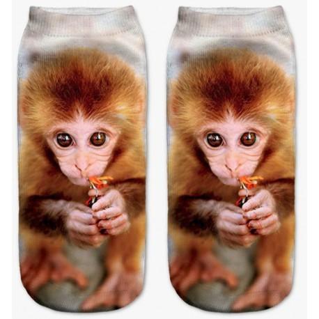 Chaussettes bébé singe